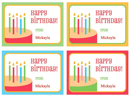 Free printable birthday party gift tags negle Choice Image