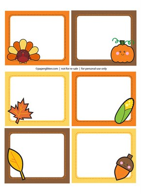 Cute Free Printable Thanksgiving tags by Paper Glitter.