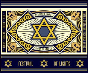 Menorah Card & Festival of Lights Box Gift Box