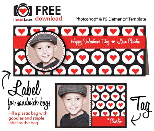 Free Party Printable Valentine Photoshop Templates