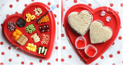 Valentine Snacks in Chocolate Heart Box