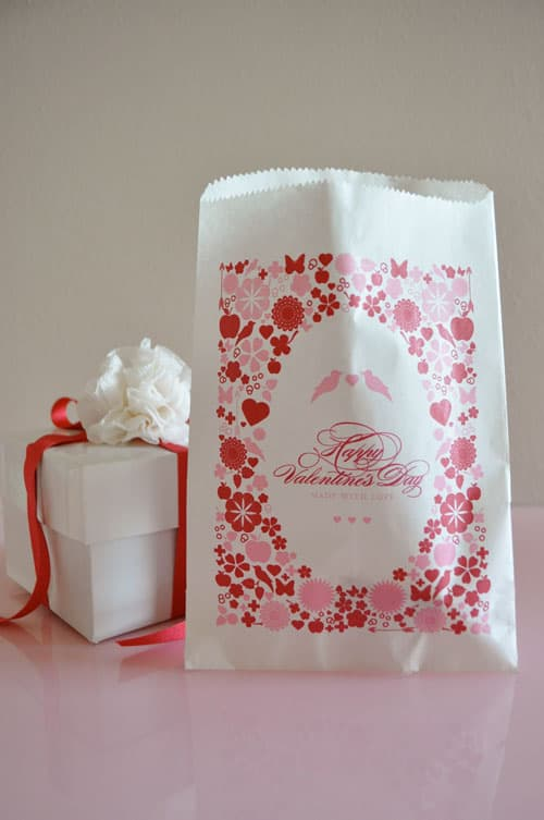Free Printable Valentine Bags by Twig and Thistle