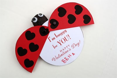 Free Printable Valentine Lady Bug by Skip to My Lou
