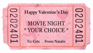 Free Printable Valentine Movie Ticket