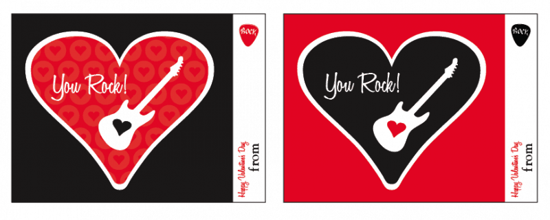 """You Rock"" Free Printable Valentine by Amy Locurto at LivingLocurto.com"