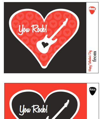 You Rock! Free Printable Valentine