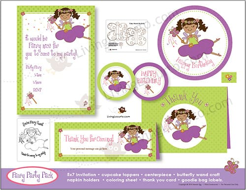 Fairy Princess Party Printable Supplies