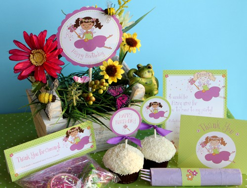Fairy Birthday Party Printables by Amy Locurto shop.livinglocurto.com