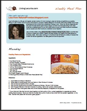 Week 19- Free Printable Weekly Meal Plan