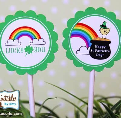 St. Patrick's Day Free Rainbow Party Printables
