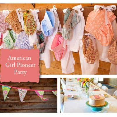 American Girl Pioneer Party & Free Printable Invitation
