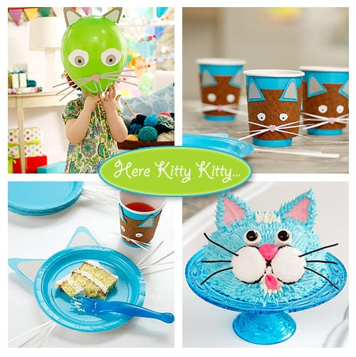 Cat Themed Birthday Party decorations and ideas for planning your own feline frenzy!