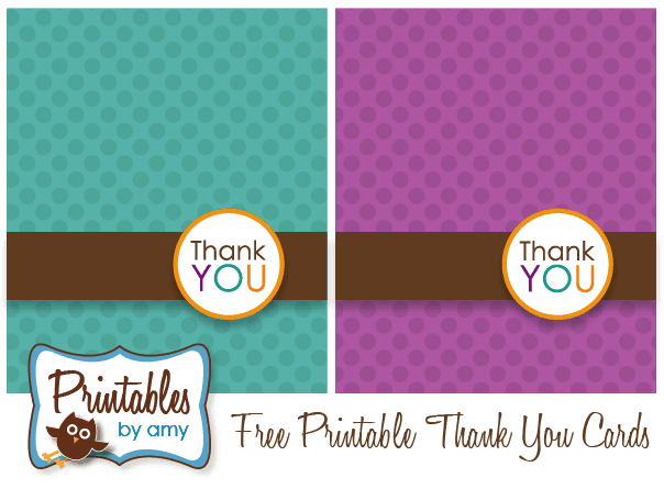 thank you cards printable