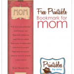 Mom Free Printable Bookmark
