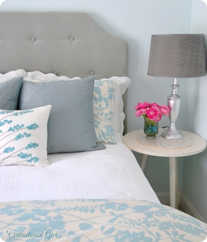 Beautiful Girls Bedroom Makeover with DIY Headboard