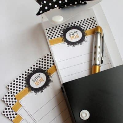 Super Mom Free Printable Notes – DIY Dollar Gift Idea