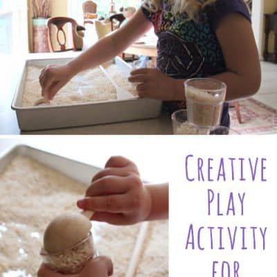 Playing with Rice – Creative Activity for Kids