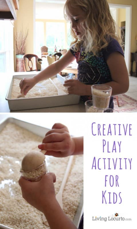 Playing with Rice - Creative Activity for Kids LivingLocurto.com