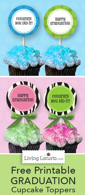 Free Printable Graduation Cupcake Tags