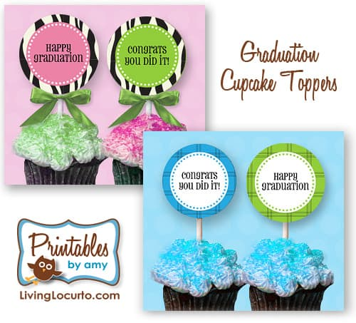 Graduation Party Free Printables by LivingLocurto.com