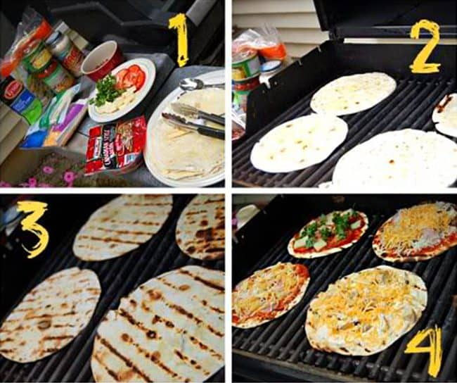 Low Carb Grilled Pizza Recipe. Easy step by step directions for grilling pizza.