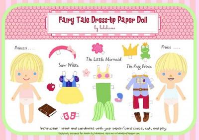 fairy tale paper dolls
