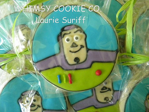 Toy Story Party Ideas - Buzz Cookie
