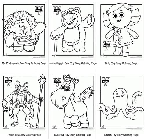 Toy story party ideas disney birthday party ideas for Free printable coloring pages toy story 3