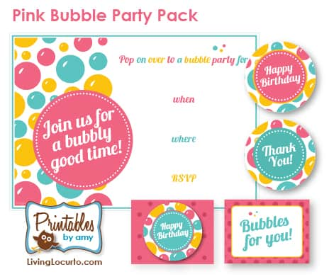 New bubble party printables living locurto close x filmwisefo