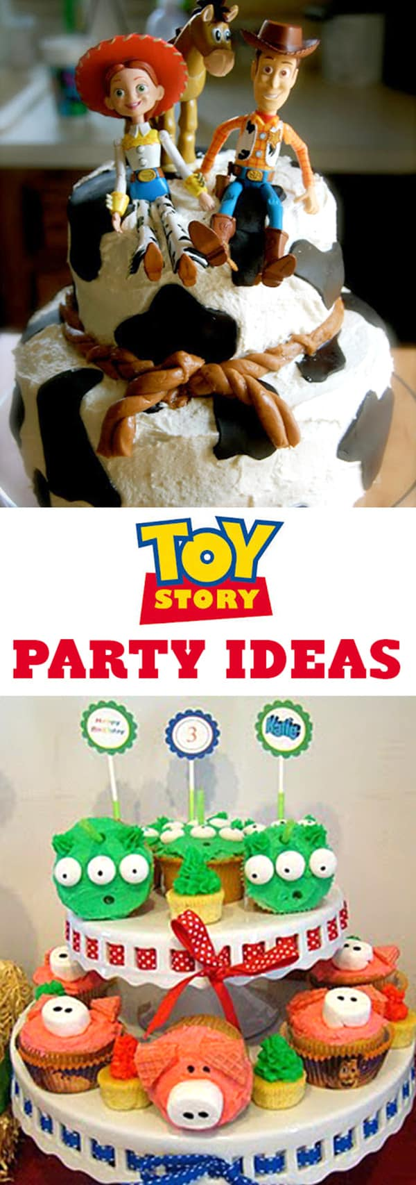 Toy Story Party ideas! Disney Birthday Party Ideas for kids. Cute Woody, Buzz Light Year and the gang themed cakes, cookies, cupcakes, free party printables, party favors, crafts and kid games! LivingLocurto.com #birthday #toystory #party