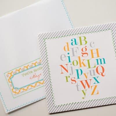 ABC Baby Shower Free Printable Invitation