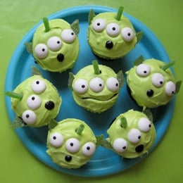 Toy Story Party Ideas  alien cupcakes