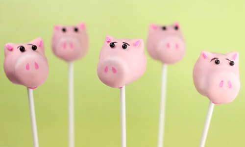 Toy Story Party Ideas - Pig Cake Pops
