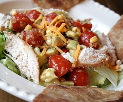 Healthy Avocado Chicken Taco Salad