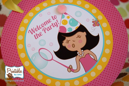 Bubble Birthday Party Ideas by Amy Locurto at LivingLocurto.com