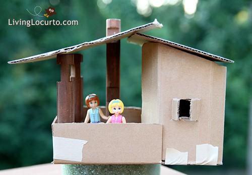 Cardboard Play House - Tree House Kid Craft by LivingLocurto.com