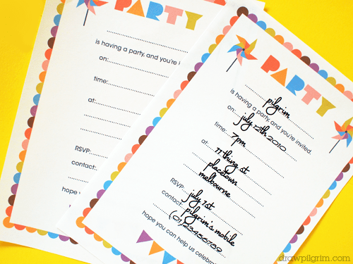 A month of free birthday printables living locurto for What does rsvp stand for on an invitation