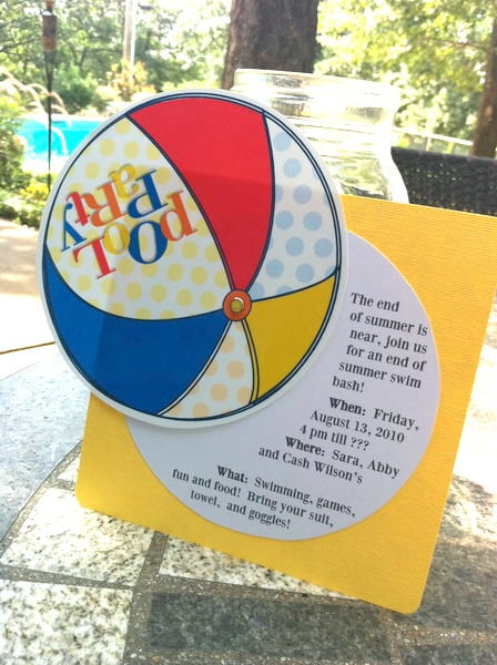 Free Printable Pool Party Invitation – Blank Pool Party Invitations