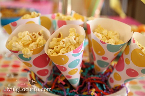 Easy Popcorn Party Treat Cones (How-to Tutorial)