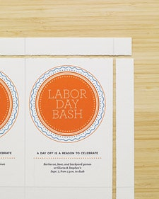 Martha Stewart Labor Day Invitations