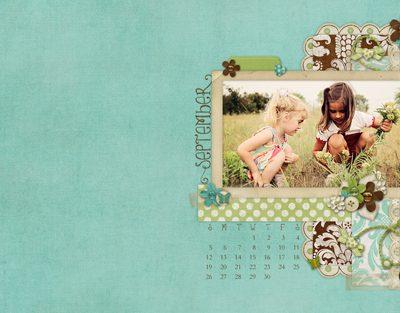 Free September Desktop Calendar