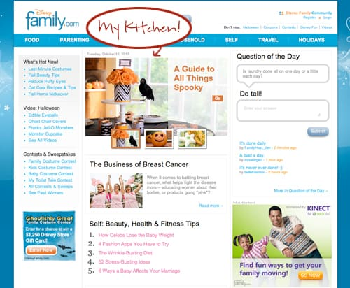 Disney's Family.com featuring a photo by Amy Locurto.