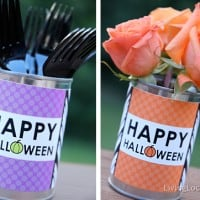 Halloween Free Party Printable Tin Can Labels