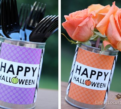 Free Printable Halloween Labels and Place Cards