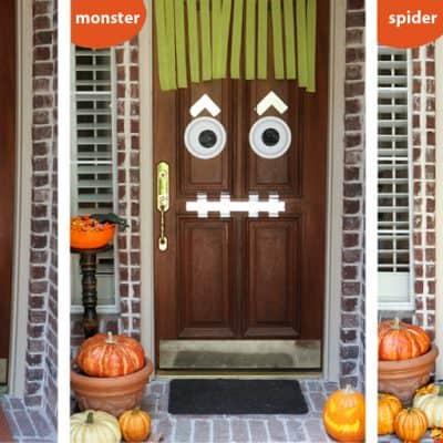 Easy DIY Halloween Door Decor Ideas