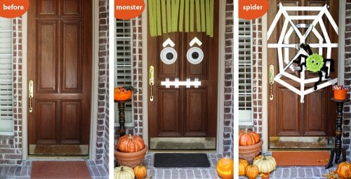 Easy Halloween Craft - Creepy Doors by Amy at LivingLocurto.com