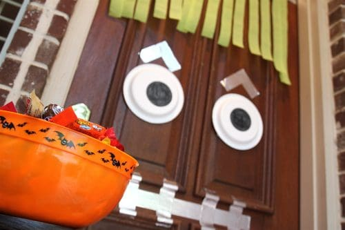 Easy DIY Halloween Door Craft Decor Ideas