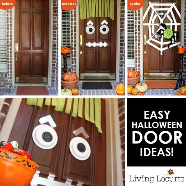 easy diy halloween door decor ideas