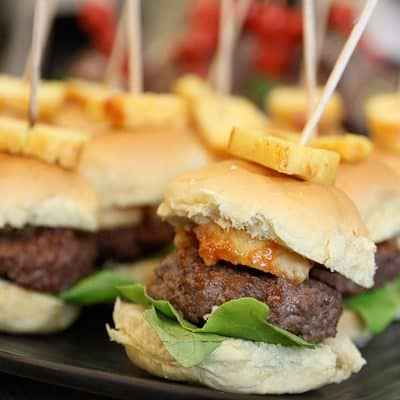 Hawaiian Burgers - Easy Slider Recipe
