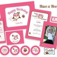 Pink Owl Birthday Party